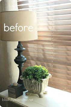 How to Recover a Lampshade {Tutorial} - Blissfully Ever After