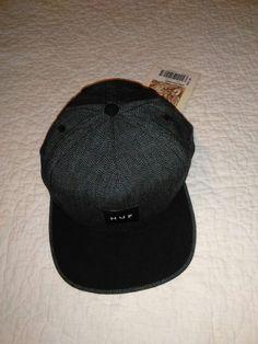 HUF BLACK GREY HAT NEW Japanese Speckle SnapBack Hat o s  HUF  Flat 9e233c7fb2a9
