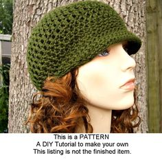 Crochet Pattern - Crochet Hat Pattern PDF for The Skater Boy Hat - Newsboy Hat - Winter Accessories Winter Fashion. $5.00, via Etsy.