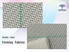Double layer forming fabrics. Tela formadora doble capa para fabricación de papel.