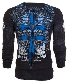 Archaic AFFLICTION Mens THERMAL T-Shirt LOYALTY Cross Tattoo Biker UFC M-3XL $58 #Affliction #GraphicTee