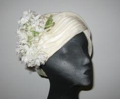 Ivory DIOR hat vintage cloche turban style by TwilightAttire, $85.00