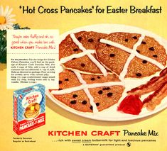 1950s advertisement for Kitchen Craft Pancake Mix