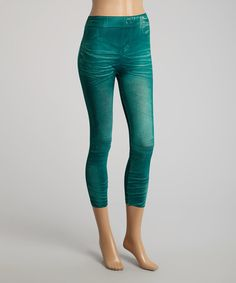 Look what I found on #zulily! Green Whisker Capri Jeggings by Citi Life #zulilyfinds