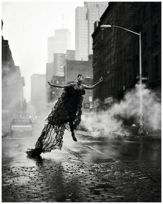 Spirits of the Night - Harper's Bazaar US September 1992  ph. Peter Lindbergh   Model: Linda Evangelista