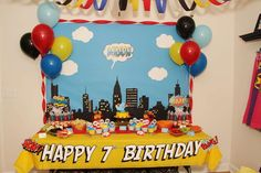 Super Heros Birthday Party Ideas | Photo 10 of 22 | Catch My Party