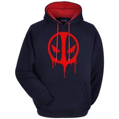 Deadpool Hoodie Premium Hooded Sweatshirt by WhiteWizardPurpleElf on Etsy