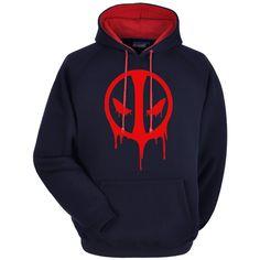 Deadpool Hoodie Premium Hooded Sweatshirt by WhiteWizardPurpleElf on Etsy