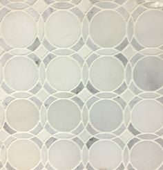 Infinity-Pure Water Jet Tile White Carrara Polished Marble Mosaic