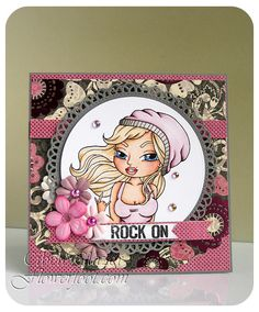 Flower Foot Designs: Rock On - The Stamping Chef Challenge #TSC #TheStampingChef
