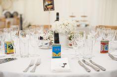 Tea tin wedding favour