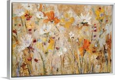 Golden wildflowers abstract from GreatBIGCanvas.com