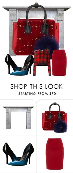 """""""#redstuddedminibag"""" by magicadea2013 ❤ liked on Polyvore featuring MCM, GUESS, Paule Ka and N°21"""
