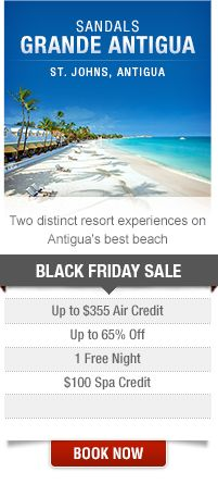Sandals all inclusive resorts cyber week deals on for Black friday vacation deals all inclusive