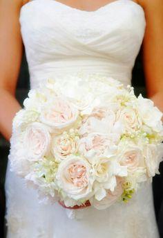 English roses Wedding bouquet