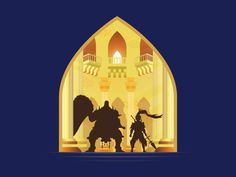 Ornstein and Smough (Dark Souls) by Michael Cullen-Benson