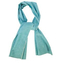 """The Hill-Side Scarf - """"Asagi"""" Turquoise Selvedge Chambray"""