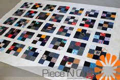 Piece N Quilt: Make it do, Do without, Use it up, Or wear it out. Made with her Grandfather's old clothes