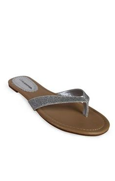 sandal with patent thong $16.50