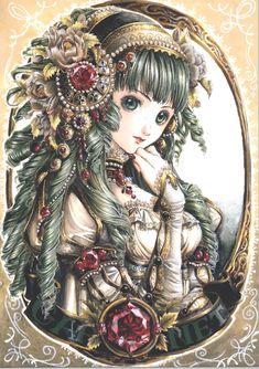 illustration drawn by nao tsukiji Tsukiji, Manga Anime, Manga Girl, Anime Art, Anime Girls, Fantasy Kunst, Fantasy Art, Pretty Anime Girl, Anime Kunst