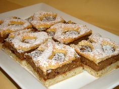 Berliner szelet recept :) Hungarian Desserts, Hungarian Cake, Hungarian Recipes, Hungarian Food, Cookie Desserts, Cookie Recipes, Romanian Food, Salty Snacks, Bread And Pastries