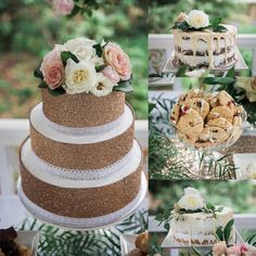 This cake and buffet collection was designed to include soft pastel tones with loads of greenery and sparkle of gold.  The main cake has a glitter wrap over a buttercream icing finished off with a lace boarder and fresh roses on top.  Photos @passion8photography  Flowers @tyabbroses  Chocolates @chocworks stationary @invite_and_co  Venue and gardens @linleyestate  Furniture and linen @weddinghiremelbourne  Dessertscake and styling @regniercakes @melbourneweddinggroup #regniercakes…