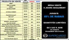 Méga vente 5 jours seulement : jusqu'à 85% de rabais. Du 4 au 9 juin 2014. Programmes d'entrainement Beachobdy : Les Mills Combat, P90X, ...