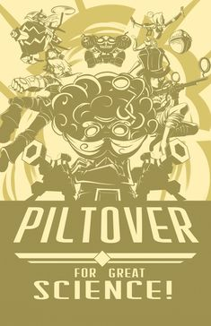 League of Legends Piltover Poster Lol League Of Legends, Orianna League Of Legends, Champions League Of Legends, League Of Legends Characters, Mad Scientist Costume, League Memes, Video Game Posters, Evil Empire, Anime Expo