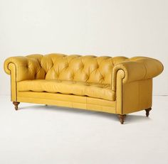 Yellow Chesterfield Couch Leather Sofas Couches Sofa Living