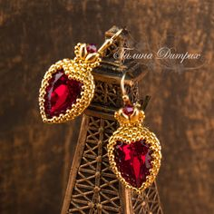 "Master-class ""Red Lady: twining drops heart"" 