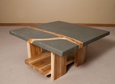 Concrete Coffee Tables made to order by StoneAndTree on Etsy