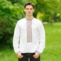 """Вишита сорочка - """"Орнамент"""" Колір:білий Рукав: довгий Матеріал: домоткане полотно машинна вишивка Ціна 350 грн"""