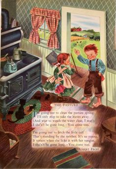 """""""The Childcraft Book of Poetry,"""" illustrated by Eloise Wilkin?, 1949 (https://www.etsy.com/listing/153973895/vintage-childrens-illustration-by-eloise?ref=shop_home_active_12)"""