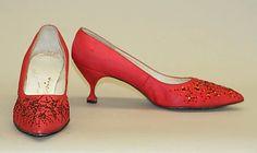 Shoes (Pumps), Evening  Mr. David Evins  (American, born England, 1909–1992)