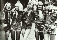 edie new york, denim ladies  london street style 1975                                                                                                                                                                                 More