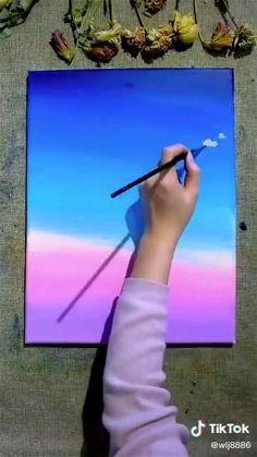 Oil Pastel Paintings, Oil Pastel Art, Watercolor Art Lessons, Watercolor Landscape Paintings, Art Painting Gallery, Painting & Drawing, Acrylic Painting Inspiration, Bff Drawings, Mini Canvas Art