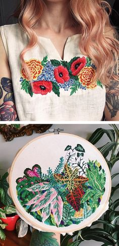 Cannot express how much we love the idea of breathing new life into thrifted clothes using some skillful embroidery! Someone teach us!