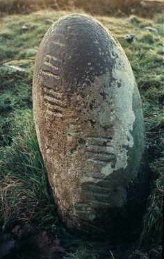 Ogham stone, county Kerry, Ireland