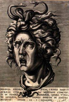 nataliakoptseva: CORT, CornelisHead of MedusaEngraving, 334 x 226mmBibliothèque Royale de Belgique, Brussels