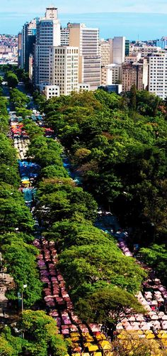 Craftsman street market at Afonso Pena Avenue, Belo Horizonte, MG, Brazil. On sundays. Beautiful Places In The World, Places Around The World, Great Places, Places To Visit, Around The Worlds, Argentine, South America Travel, Birds Eye View, Cities