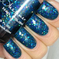 Shipwreck Nail Polish - Custom Blended Blue Green Glitter Nail Lacquer- 0.5 oz Full Sized Bottle on Etsy, $8.75