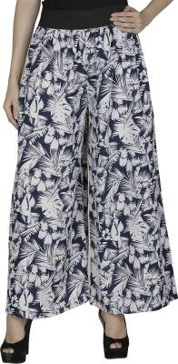 Shopingfever Regular Fit Women's Trousers - Buy White, Blue Shopingfever Regular Fit Women's Trousers Online at Best Prices in India | Flipkart.com