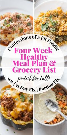 Looking for healthy meal plans with tons of yummy fall and winter meals that the whole family will love? Enjoy this printable meal plan with healthy dinner ideas that is super helpful during busy weeks where you just want to print a healthy grocery list and head to the store or schedule a grocery pick up! 21 Day Fix Diet, 21 Day Fix Meal Plan, Meal Prep Plans, Clean Dinner Recipes, Clean Dinners, Clean Eating Recipes, Healthy Eating, Week Of Healthy Meals, Healthy Family Meals