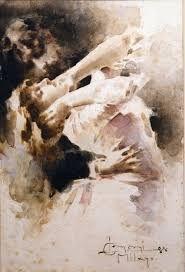 l. conconi- coppia abbracciata che danza