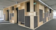 Wood & Fibre cement cabinets by Stramien architects (B).  EQUITONE fibre cement panels. www.equitone.com