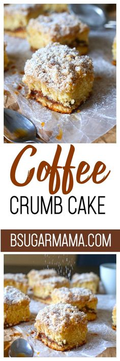 Enjoy this Coffee Crumb Cake recipe for breakfast or brunch. Topped with a delicious crumble and a touch of cinnamon. You will enjoy this coffee cake with coffee (or tea).