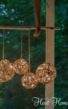 Bring a Soft Glow Outdoors with This DIY Outdoor Chandelier
