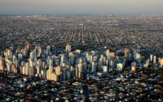 Vista aerea Lomas de Zamora al atardecer (mirando al NE) World Cities, San Francisco Skyline, New York Skyline, City, Travel, Argentina, Buenos Aires, San Vicente, Countries