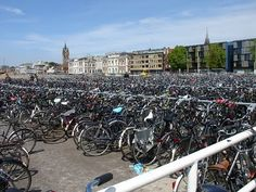 Netherlands, bicycle parking lot