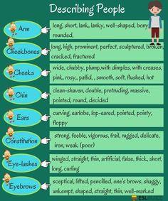 English Words for Describing a Person's Appearance - ESL Buzz